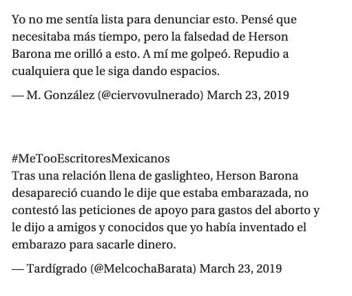 a traves de metooescritoresmexicanos denuncian acoso sexual de escritores en twitter 1