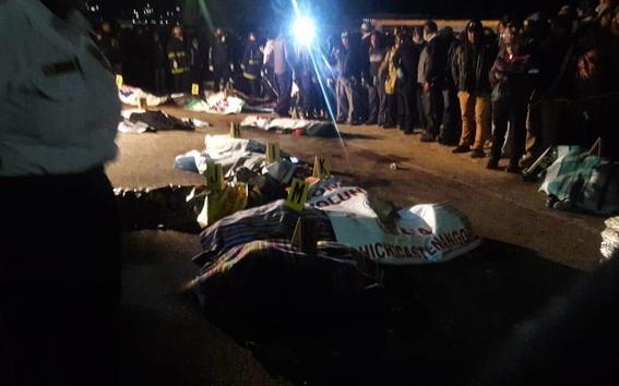 mueren 18 personas al ser atropelladas por un trailer en guatemala 2