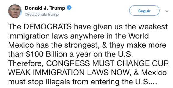 donald trump cerraria frontera con mexico proxima semana 2