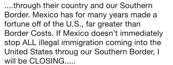 donald trump cerraria frontera con mexico proxima semana 1