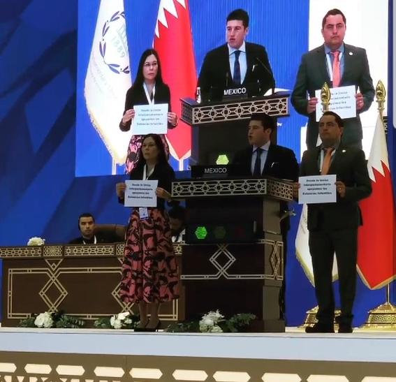 legisladores mexicanos protestan en qatar 2
