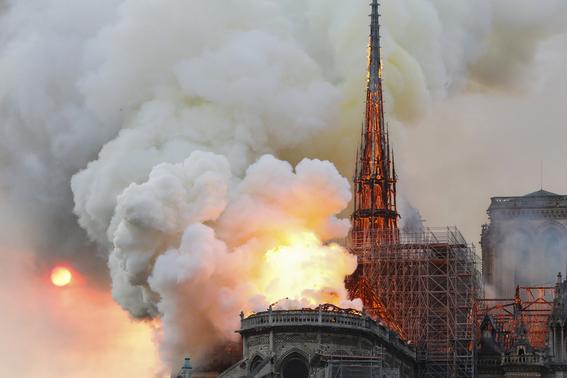 estructura catedral de notre dame incendio 2