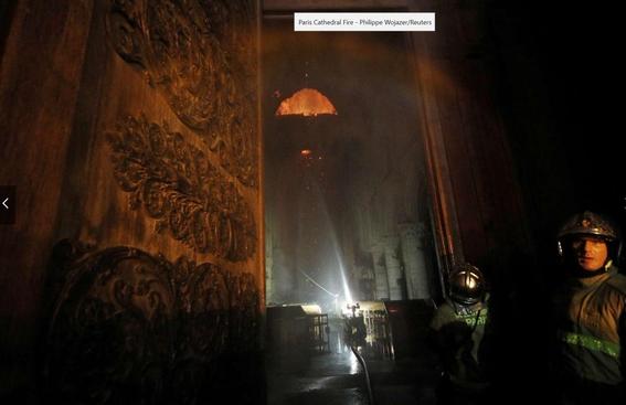 interior catedral de notre dame incendio 2