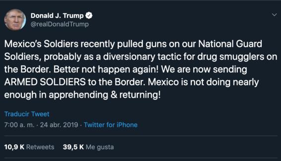 donald trump dice que esta enviando soldados a frontera euamexico 2