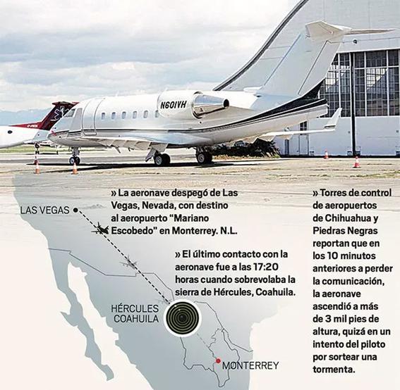 desaparece avion con pasajeros que viajaban de las vegas a monterrey 1