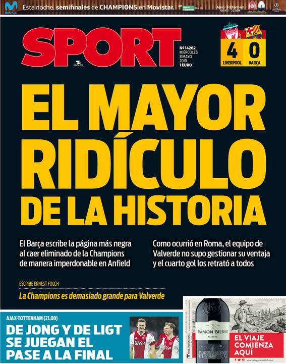 asi ve prensa espanola eliminacion del barcelona de la champions 1