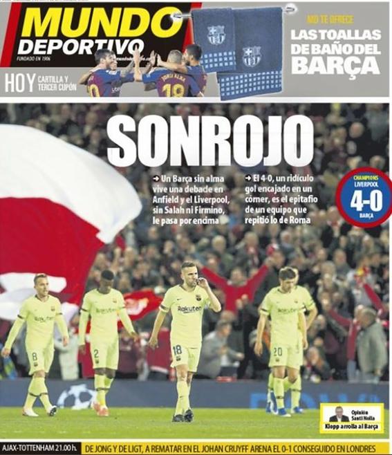 asi ve prensa espanola eliminacion del barcelona de la champions 2