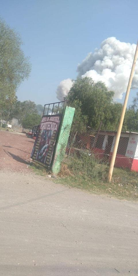 reportan explosion en taller de pirotecnia en tultepec 1