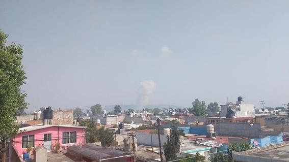 reportan explosion en taller de pirotecnia en tultepec 2