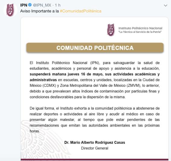 unam suspende clases jueves 16 mayo 2019 2