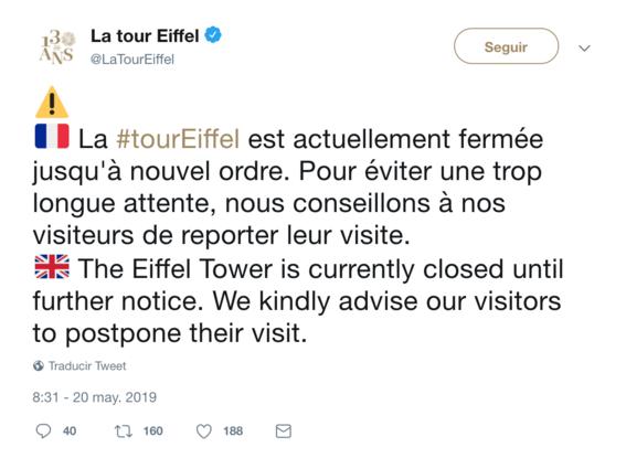 la presencia de un hombre escalando la torre eiffel provoco su evacuacion completa 1