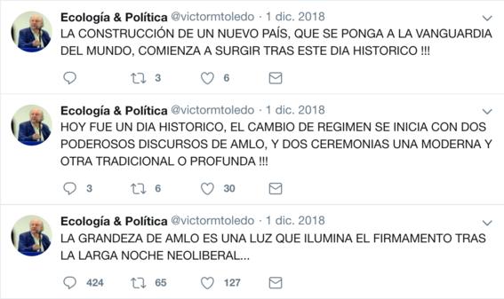 victor manuel toledo el nuevo titular de la semarnat ha mostrado contradicciones sobre amlo en sus redes sociales 1