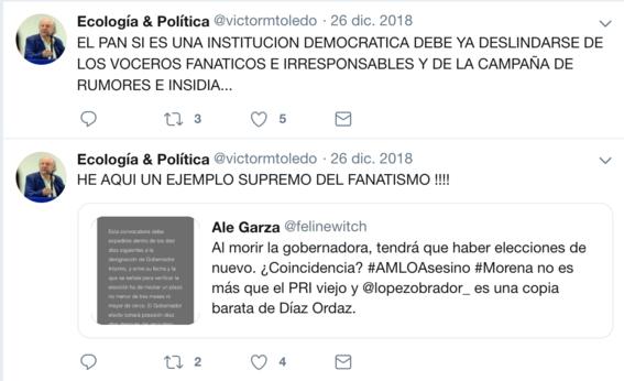 victor manuel toledo el nuevo titular de la semarnat ha mostrado contradicciones sobre amlo en sus redes sociales 2