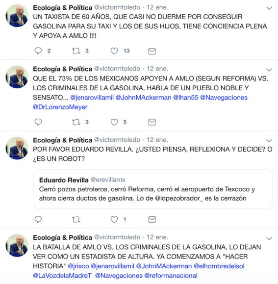 victor manuel toledo el nuevo titular de la semarnat ha mostrado contradicciones sobre amlo en sus redes sociales 4
