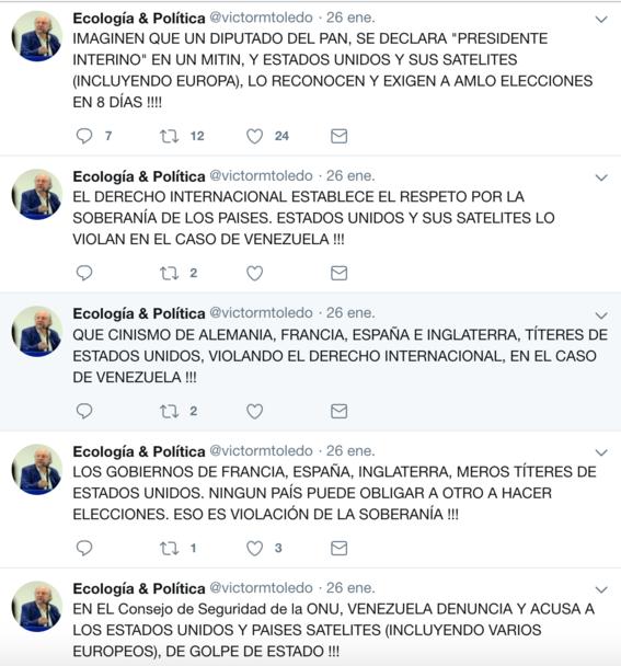 victor manuel toledo el nuevo titular de la semarnat ha mostrado contradicciones sobre amlo en sus redes sociales 5