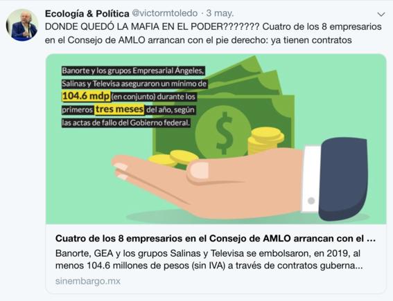 victor manuel toledo el nuevo titular de la semarnat ha mostrado contradicciones sobre amlo en sus redes sociales 11
