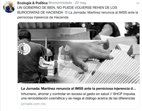 victor manuel toledo el nuevo titular de la semarnat ha mostrado contradicciones sobre amlo en sus redes sociales 12