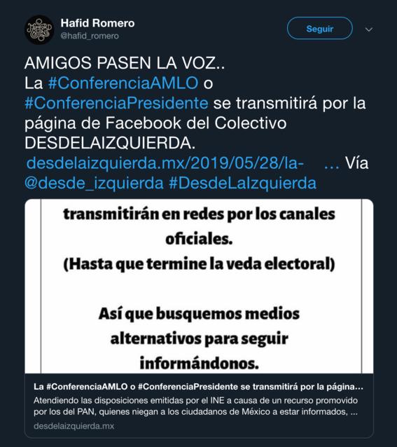 aunque suspenden mananeras por elecciones usuarios la transmiten en redes 1