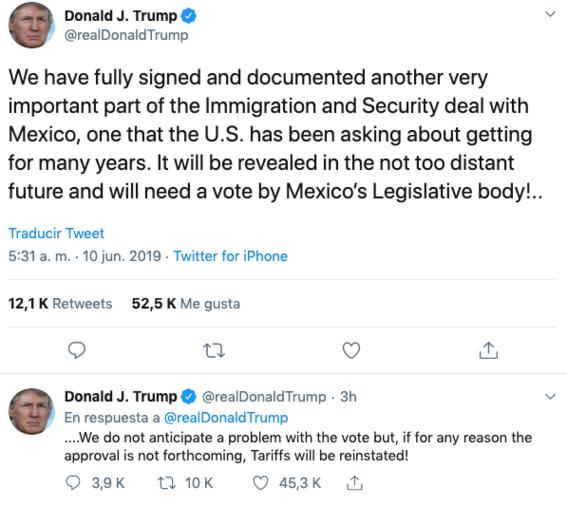 donald trump vuelve a amenazar a mexico con los aranceles 2