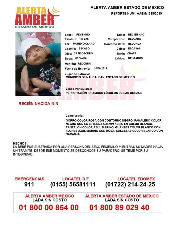 la menor fue encontrada en calles de praderas de san mateo de ese municipio mexiquense 1