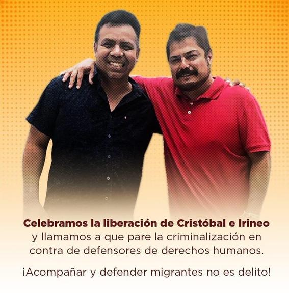 liberar a lider migrantes irineo mujica y cristobal sanchez 1