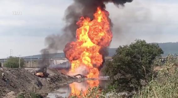 reportan explosion de ducto de pemex en celaya; hay dos muertos 1