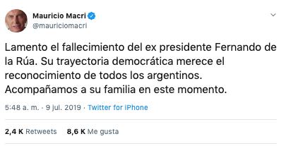 muere el expresidente argentino fernando de la rua 2
