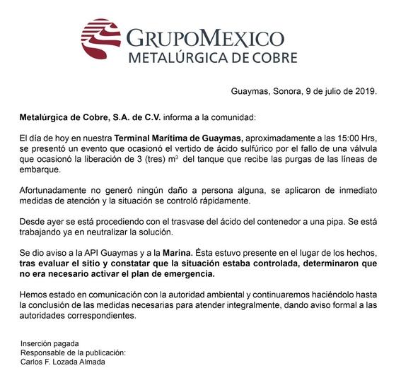 grupo mexico tiene 5 dias para explicar accidente en mar de cortes 1