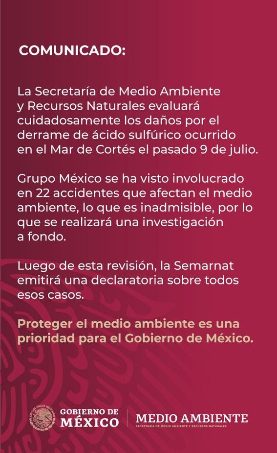 grupo mexico dice que animales muertos no comprueban danos por derrame 2