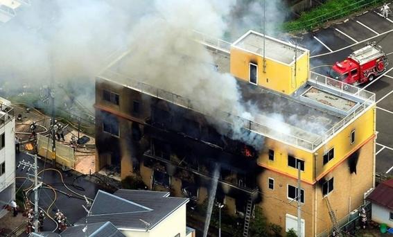 al menos 27 muertos en incendio provocado en estudio de anime 1