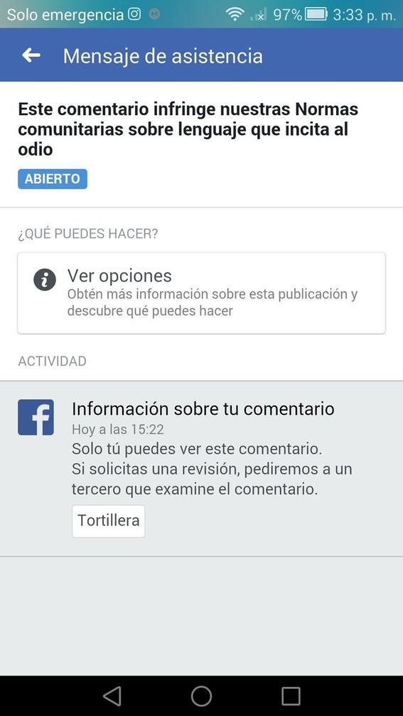 tortillera palabra prohibida por facebook 1
