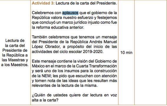 nueva escuela mexicana amlo aplausos 2