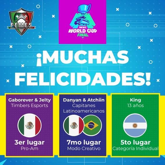 fortnite mexicanos campeonato mundial 1