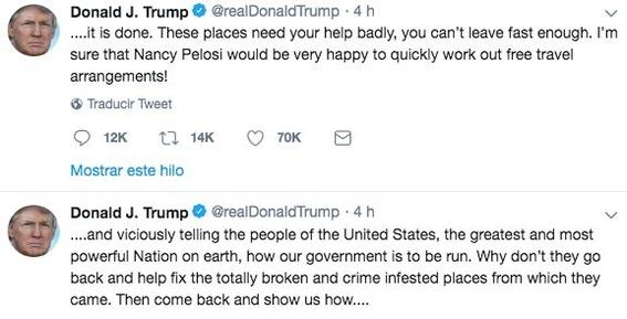 el presidente de los estados unidos donald trump cree que es la persona menos racista del mundo a pesar de sus constantes muestra de si serlo 1
