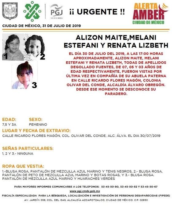 otras cuatro menores desaparecen en alvaro obregon se activa alerta amber 2