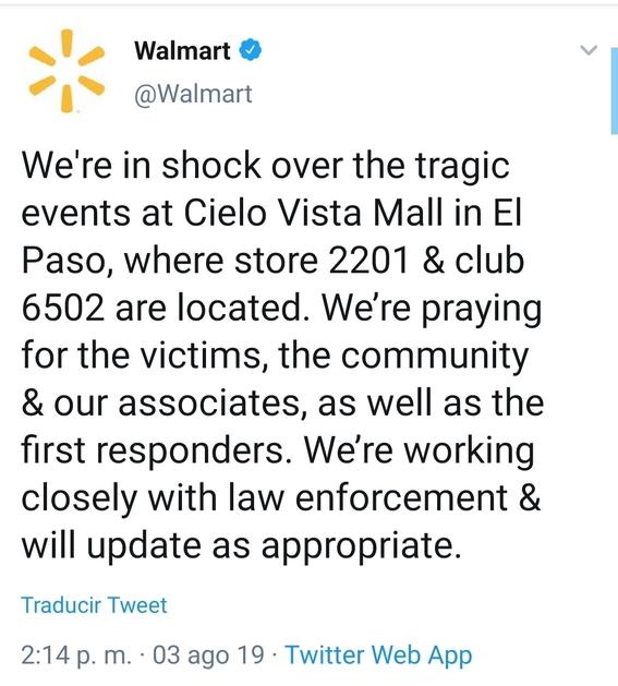 elpasoshooting tiroteo waltmart el paso texas 2