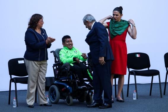 amlo anuncia que dara los mismos apoyos a atletas parapanamericanos 1
