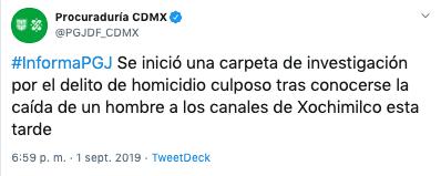 joven de 20 anos muere tras caer de trajinera en xochimilco 1