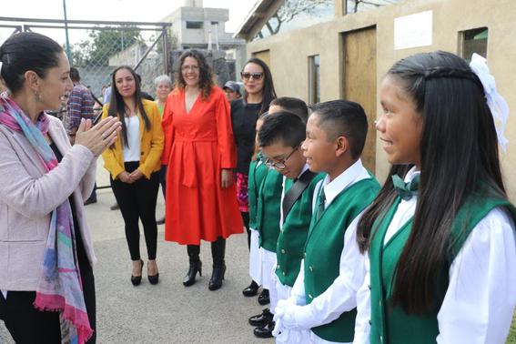 se trata de la primera escuela primaria construida con materiales ecologicos; se encuentra en la alcaldia tlalpan de la cdmx 2
