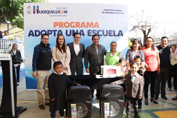 """presidente municipal de huixquilucan implementa el programa """"adopta una escuela"""" 1"""
