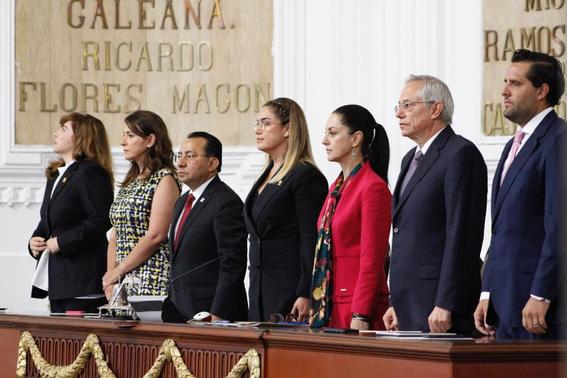 la jefa de gobierno de la ciudad de mexico claudia sheinbaum se encuentra en el pleno del congreso local para rendir su primer informe 3