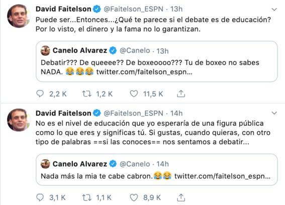 canelo alvarez y david faitelson pelean en redes sociales 3