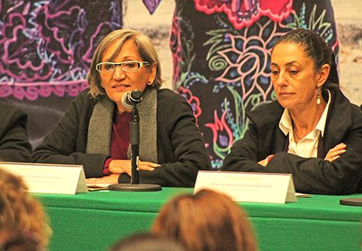 la secretaria de la mujer explico que trabajan en acciones inmediatas para brindar proteccion a las mujeres; dijo que los recursos en la cdmx se  1