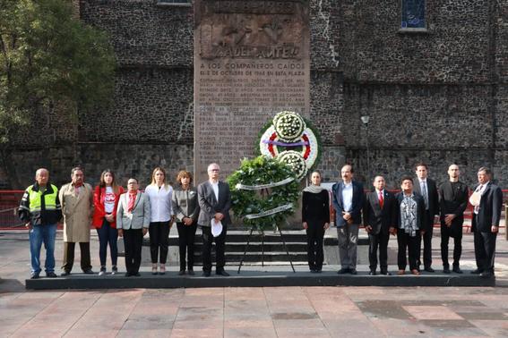 en el 51 aniversario de la masacre de tlatelolco claudia sheinbaum afirmo que seguira luchando con responsabilidad por la democracia libertad y 2