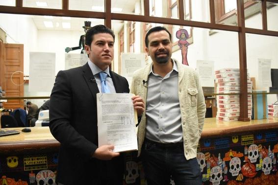el senador samuel garcia y el secretario general de su partido jorge alvarez maynez presentaron el recurso amicus curiae en contra del fallo a  1