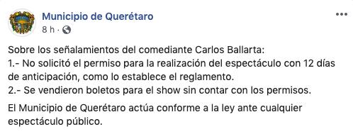 standupero carlos ballarta acusa autoridades queretaro por cancelar su show 1