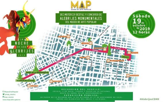 horario ruta cierres viales recomendaciones y todo lo que debes saber sobre el desfile de alebrijes que se llevara a cabo en las calles de la  1