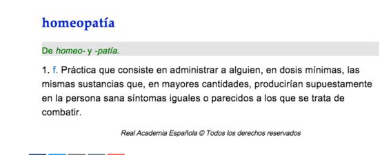 real academia espanola rae homeopatia definicion 1