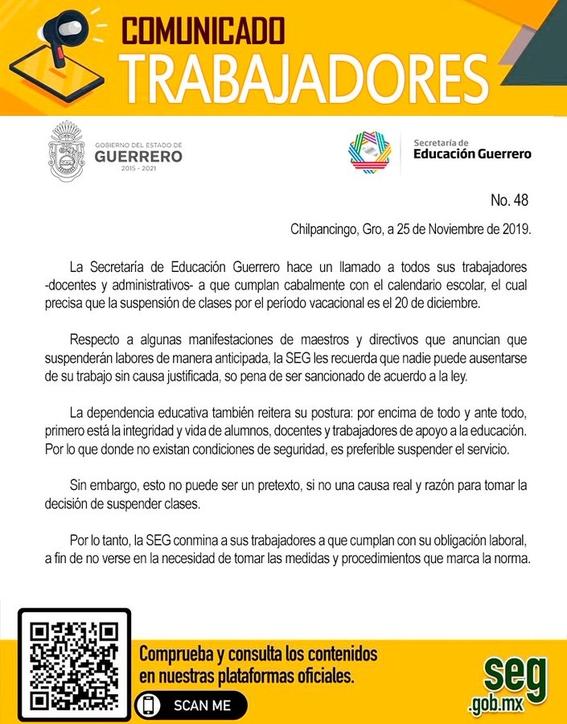 escuelasenacapulcoadelantanvacacionesporinseguridad 1