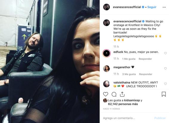 Evanescence y Slipknot cancelan presentación en el Knotfest 2019 ¡Prenden fuego!